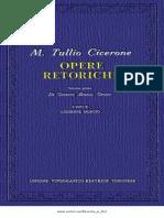 125080588 Marco Tullio Cicerone Opere Retoriche Vol 1 Utet