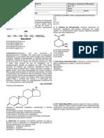 avaliação bimestral quimica