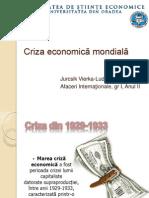 Jurcsik Vierka - Criza economică mondială