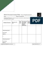 SLPs Personal Action Plan _SRBI_ 3-25-09