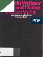 Wellmer - Ethik Und Dialog