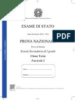 prova nazionale 2011_Italiano 3 Media