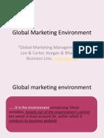 Global Marketing Environment Economic Environment