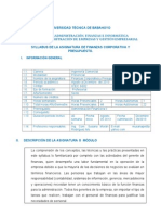 Utb- Syllabus Finanzas Corporativa