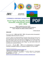 Info Conferinta Romi 600 Ani 08.04.2014