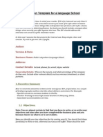business plan template for website