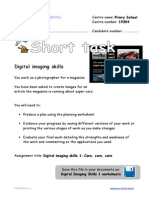 Worksheet - Short Task - Digital Imaging Skills 1