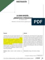 La Gran Mineria.(Beneficios o Perjuicios)