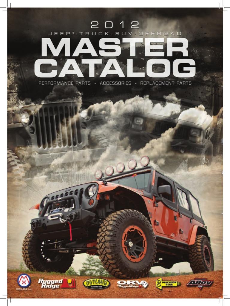 2012 master catalog off roading suspension vehicle
