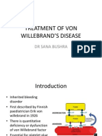 TREATMENT OF VON WILLEBRAND'S DISEASE