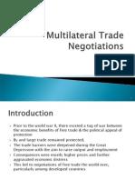 Trade Negotiations