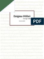 Enigma Otiliei Rezumat Pe Capitole