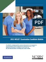 2013 NCLEX Candidate Bulletin