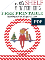 Elf on the Shelf - Plate and Napkin Ring