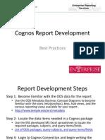 Cognos Report Development Tips and Tricks Ver3