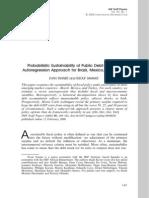 Probabilistic Sustainability of Public Debt - A Vector Autoregression Approach