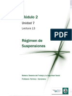 Lectura 13 - Régimen de suspensiones