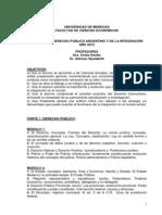 Derecho Publico y de La Integracion 2013