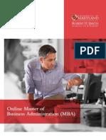 UMD MBA Brochure