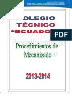 Libro Procedimientos de Mecanizado Primero de Bachillerato Industrial 1