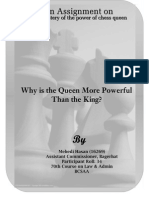 Why the Chess Queen is More Powerful Than the King