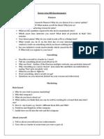 IIM A - Sector Wise HR Questionnaire