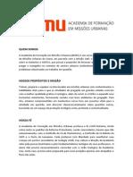 ACADEMIA DE FORMAÇÃO EM MISSÕES URBANAS