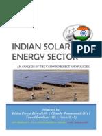 INDIAN SOLAR ENERGY SECTOR