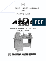 Atlas Lathe 12 3996 12x36