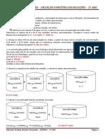 Diluição e Mistura - Exercícios de revisão