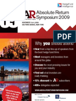 Hedge Fund Symposium Discount (Absolute Return + Alpha 2009)