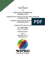 Project on Wipro Ltd