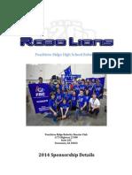 RoboLions Sponsor Packet