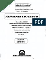 Administrativo - Guia de Estudio