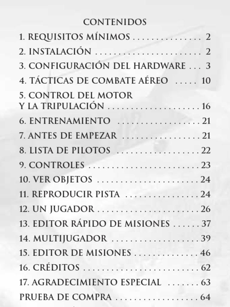 IL2 STURMOVIK FORGOTTEN BATTLES - Manual Español