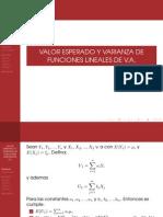 Valor esperado y varianza de funciones de variables aleatorias
