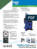 Pulsatron Plus Series T7 Specifications En
