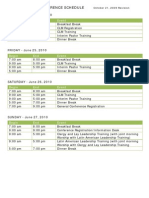 Tentative General Conference 2010  Schedule - Oct. 2009 revision