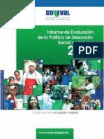 Coneval, Informe de evaluación de la política de desarrollo social en México 2012