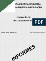 FORMAÇÃO DE GESTORES MUNICIPAIS