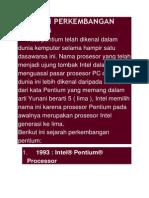 Sejarah Perkembangan Pentium