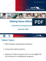 Making Home Affordbale Counselor Training September Presentation