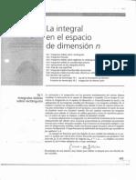 La Integral en el Espacio de Dimensión n