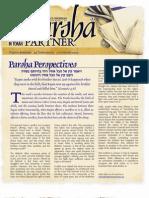 Parsha patners Berechit 2009