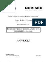 Dimensionnement de Fondations Sous Structures Consoles ANNEXES