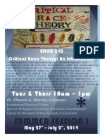EDUC 545 Critical Race Theory