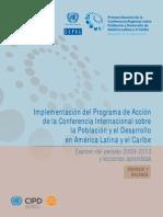 CEPAL, Implementación del programa de acción de la conferencia internacional sobre la población y el desarrollo AL y el Caribe. Examen del período 2009-2013 y lecciones aprendidas