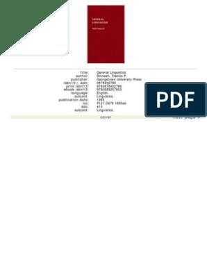 73b495136 Francis P. Dinneen, S.J. - General Linguistics | Syntax | Linguistics