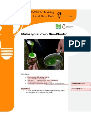 Make Your Own Bio-Plastic | Renewable Resources | Plastic