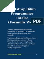 Bootstrap Bikin Programmer +Males - Formulir Web